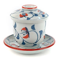 Lidded Cup - Blue Cherry