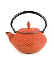Red Nailhead Teapot