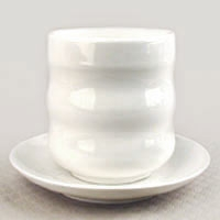 easy brewer ceramic teacup and saucer