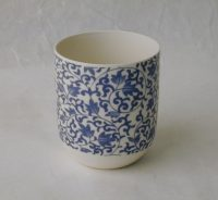 Blue Patterned Porcelain Tea Cup