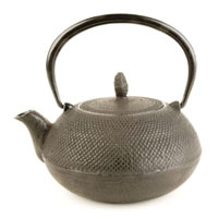 Imperial Nailhead Large Cast Iron Teapot