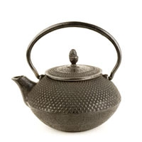 Black Japanese Nailhead Teapot