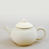 Unglazed Teapot in Ivory