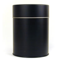 Matte Black Double Lid Tea Caddy