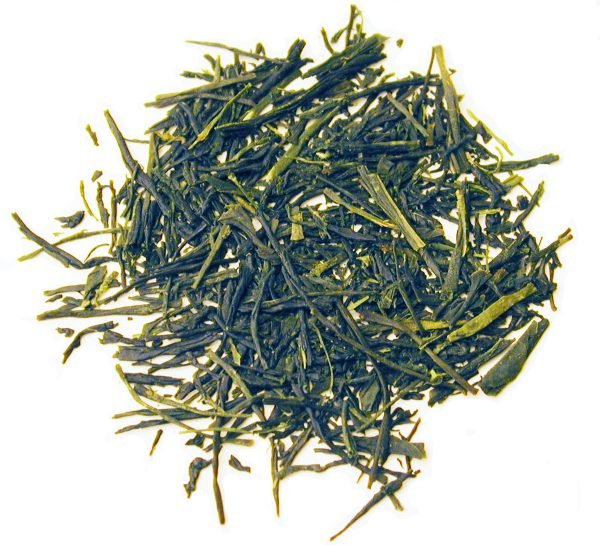 Fukamushi Sencha tea leaves