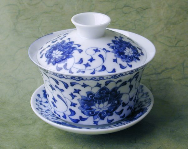 Blue Lotus Gaiwan Set