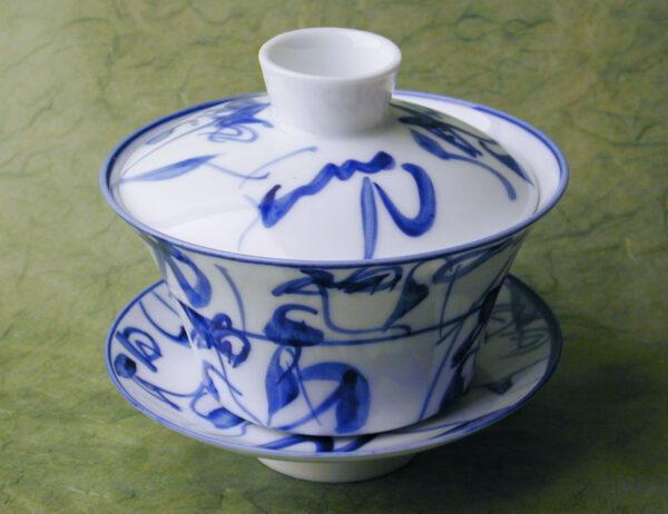 Blue Sumi Gaiwan Cup