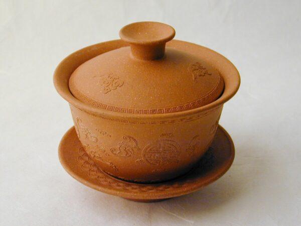 Orange Yixing Gaiwan
