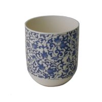 blue pattern cup