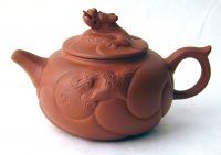 Wild Dragon Teapot - Red, with tongue out
