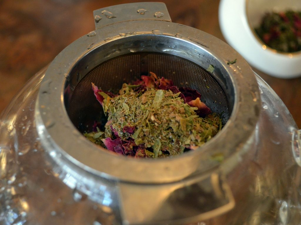 herbal infusion - making herbal tea blends